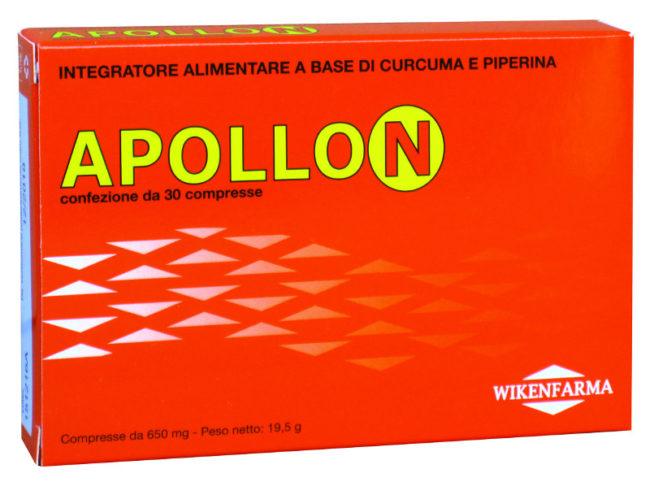 Apollon compresse ad alto contenuto di Curcuma estratto secco titolata al 95% in curcumina, con Piperina